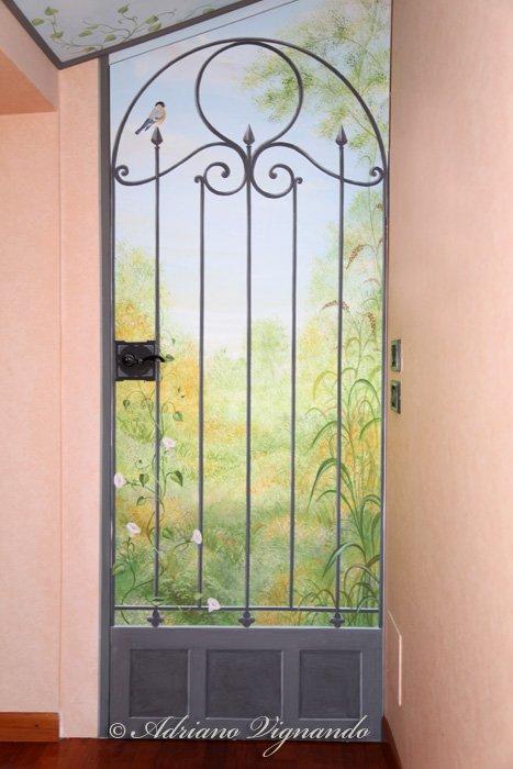 trompe l 39 oeil su porte porte. Black Bedroom Furniture Sets. Home Design Ideas